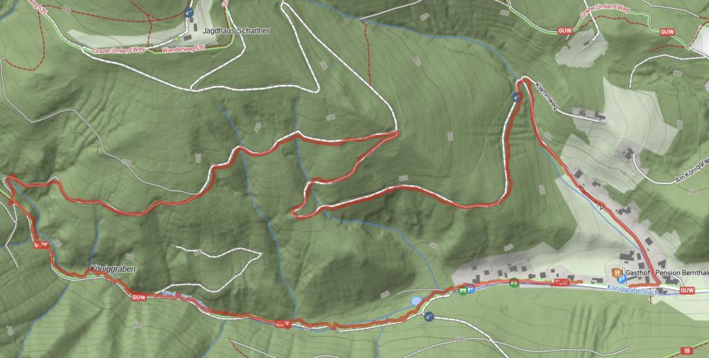 Wanderung Königgraben Runde