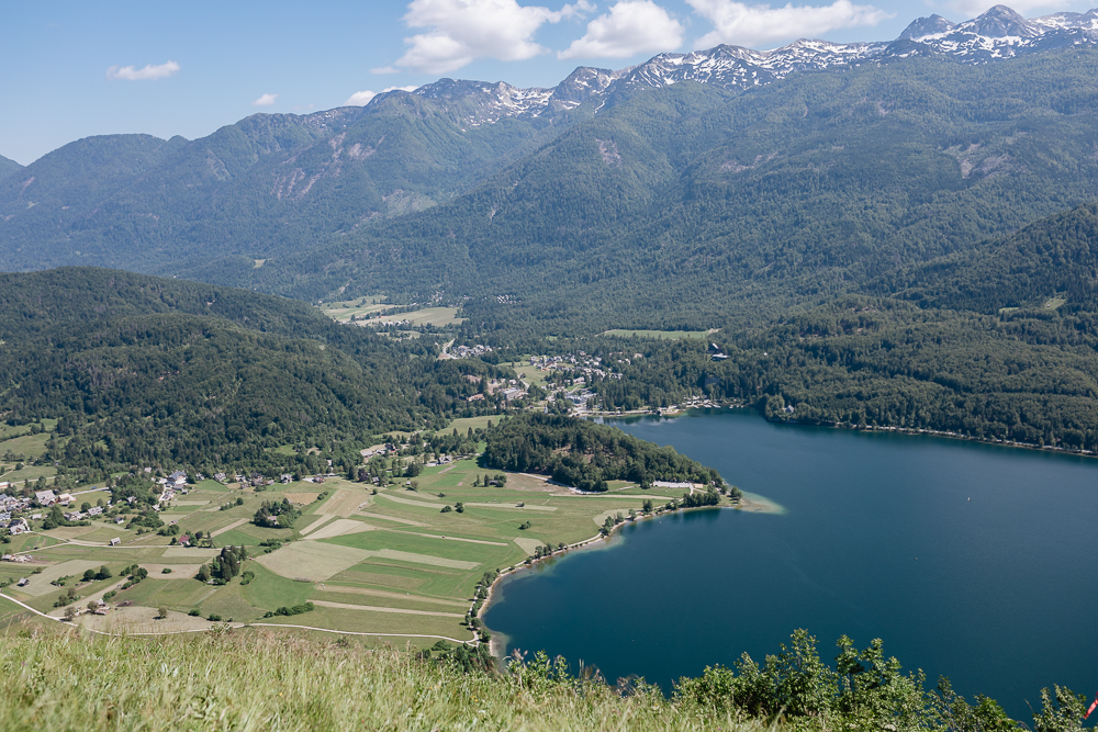 Blick über den Bohinj Lake